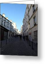 Paris France - Street Scenes - 01131 Greeting Card by DC Photographer