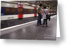 Paris Metro Greeting Card by Cynthia Lagoudakis