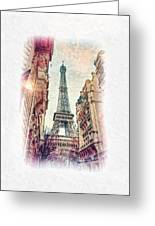 Paris Mon Amour Greeting Card by Mo T