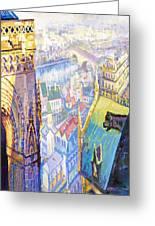 Paris Shadow Notre Dame De Paris Greeting Card by Yuriy  Shevchuk