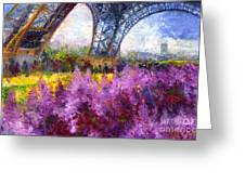 Paris Tour Eiffel 01 Greeting Card by Yuriy  Shevchuk