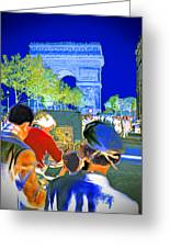 Parisian Artist Greeting Card by Chuck Staley