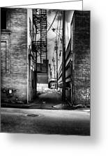 Park Alley Sunset Greeting Card by Bob Orsillo