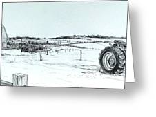 Parked Tractor  Greeting Card by Scott Nelson