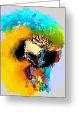 Parrot Thinking... Greeting Card by Yury Malkov