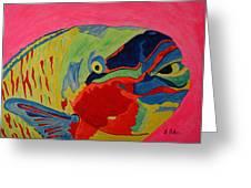 Parrotfish Greeting Card by Tony Baker