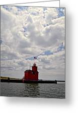 Partly Cloudy Greeting Card by Michelle Calkins