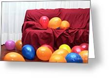 Party Balloons Greeting Card by Carlos Caetano