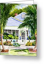 Pass-a-grille Cottage Watercolor Greeting Card by Michelle Wiarda