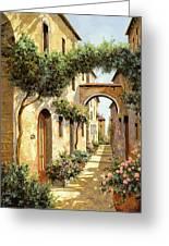 Passando Sotto L'arco Greeting Card by Guido Borelli