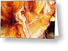 Passion - Abstract Art Greeting Card by Jaison Cianelli