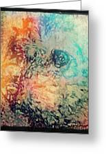Pastel Pooch Greeting Card by Tina  Vaughn
