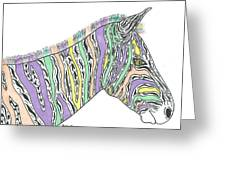 Pastel Zebra  Greeting Card by Susie Weber