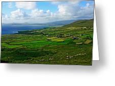 Patchwork Landscape Greeting Card by Aidan Moran