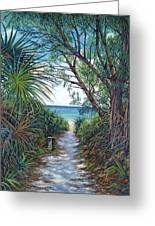 Path To Serenity Greeting Card by Danielle  Perry