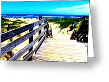 Path To The Beach Greeting Card by Scott Hamilton