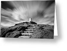 Path to Twr Mawr Lighthouse Greeting Card by Dave Bowman