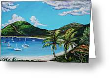 Path To White Bay  Greeting Card by Eve  Wheeler
