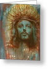 Patina Christ Greeting Card by Luis  Navarro
