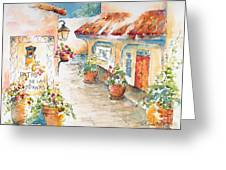 Patio De Las Campanas Greeting Card by Pat Katz