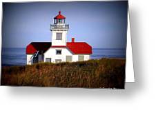 Patos Island Lighthouse Greeting Card by Christopher Fridley