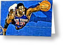 Patrick Ewing Greeting Card by Florian Rodarte