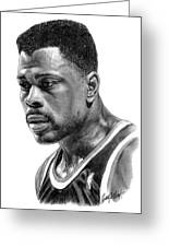 Patrick Ewing Greeting Card by Harry West