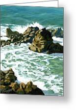 Patricks Point Rocks Greeting Card by Alice Leggett
