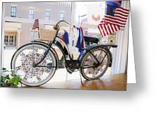 Patriotic Bicycle Greeting Card by Cindy Archbell