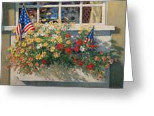Patriotic Flower Box Greeting Card by Sharon Will