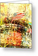 Patriotic Roller Coaster Greeting Card by Anahi DeCanio