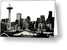 Patriotic Seattle Greeting Card by Benjamin Yeager