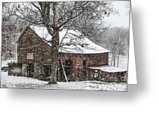 Patriotic Tobacco Barn Greeting Card by Debbie Green