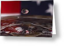 Patriotic Water Drop Greeting Card by Anthony Sacco