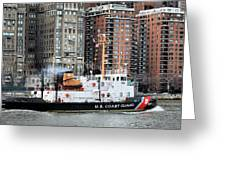 Patrolling The East River Greeting Card by JC Findley
