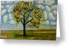 Patterned Sky Greeting Card by Blenda Studio
