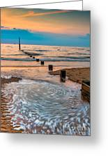 Patterns On The Beach Greeting Card by Adrian Evans