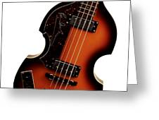 Paul McCartney Hofner Bass  Greeting Card by Bill Cannon