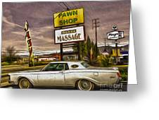 Pawn - Pool - Massage Greeting Card by Gregory Dyer