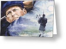Payne Stewart Greeting Card by Christiaan Bekker