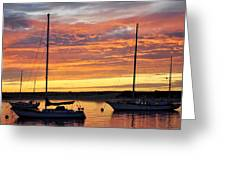 Peace At Days End Greeting Card by AJ  Schibig