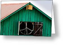 Peace Barn Greeting Card by Bill Gallagher