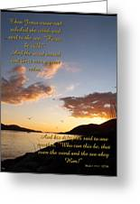 Peace Be Still Greeting Card by Glenn McCarthy Art and Photography