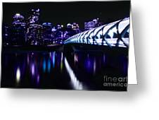 Peace Bridge Feeling The Blues Greeting Card by Bob Christopher