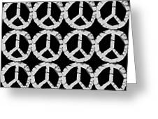 Peace In Black And White Greeting Card by Michelle Calkins