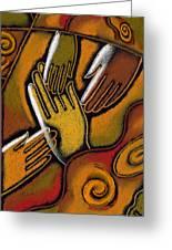 Peace Greeting Card by Leon Zernitsky