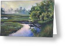 Peace Like A River Greeting Card by Alice Grimsley