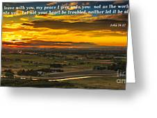 Peace Greeting Card by Robert Bales