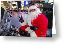 Peace Santa Greeting Card by Ed Weidman