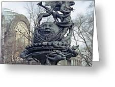 PEACE SCULPTURE in NEW YORK Greeting Card by Daniel Hagerman
